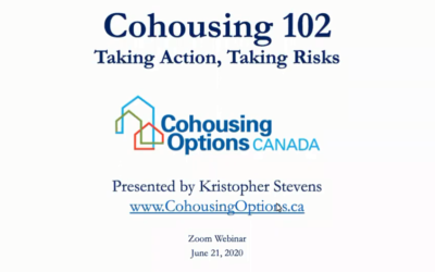 COHOUSING 102 is now LIVE on YouTube